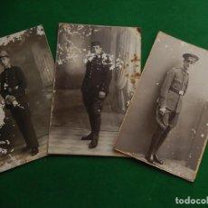 Militaria: TRES FOTOGRAFÍAS. SOLDADOS. MILITARES. MALLORCA. BALEARES.. Lote 218238997
