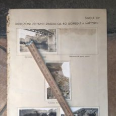 Militaria: MARTORELL (BARCELONA) PUENTES DESTRUIDOS GUERRA CIVIL ESTADO MAYOR ITALIANO. Lote 218293061