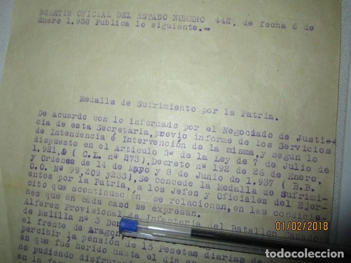 Militaria: burgos ORDEN TENIENTE GENERAL MEDALLA SUFRIMIENTO HERIDO vala FRENTE de ARAGON 1937 GUERRA CIVIL - Foto 5 - 138742774