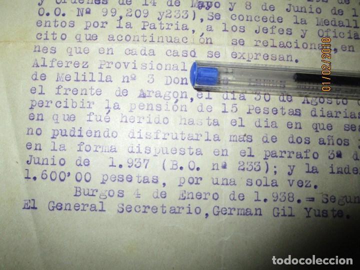 Militaria: burgos ORDEN TENIENTE GENERAL MEDALLA SUFRIMIENTO HERIDO vala FRENTE de ARAGON 1937 GUERRA CIVIL - Foto 6 - 138742774