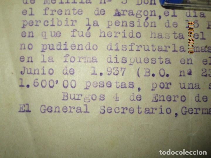 Militaria: burgos ORDEN TENIENTE GENERAL MEDALLA SUFRIMIENTO HERIDO vala FRENTE de ARAGON 1937 GUERRA CIVIL - Foto 7 - 138742774