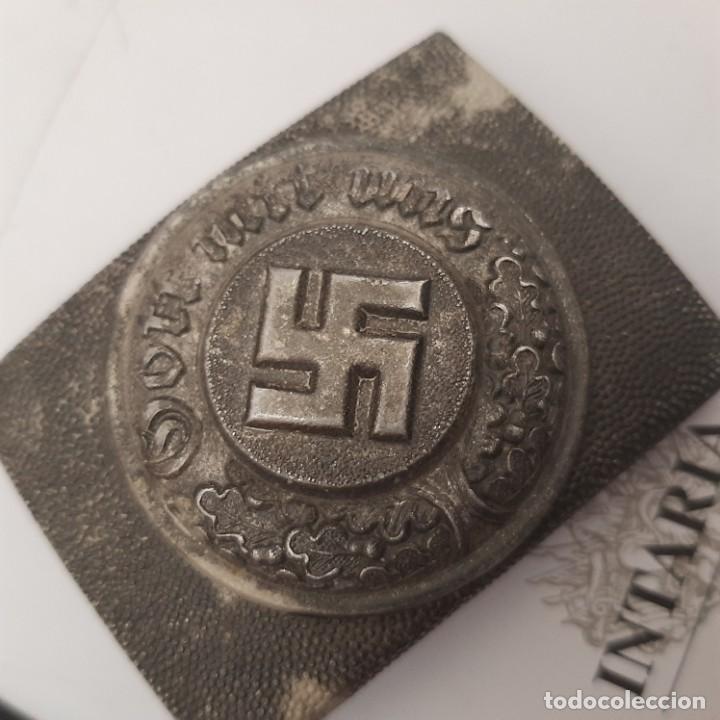 Militaria: Hebilla de policía alemán - Foto 2 - 219294790