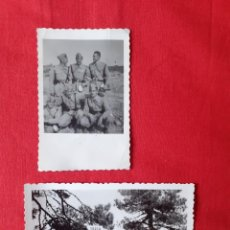 Militaria: 2 FOTOGRAFIAS MILITARES. Lote 219307513