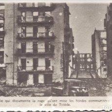 Militaria: RUINAS CIUDAD TOLEDO BOMBARDEOS ALCAZAR 1936 GUERRA CIVIL. Lote 219349912