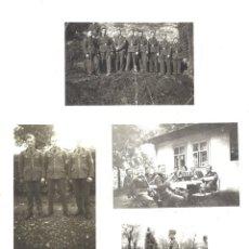 Militaria: LOTE 4 FOTOGRAFÍAS DE SOLDADOS ALEMANES. Lote 219596258