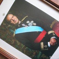 Militaria: ANTIGUO RETRATO OFICIAL DEL REY EMERITO DON JUAN CARLOS. AÑOS 90.. Lote 219642092