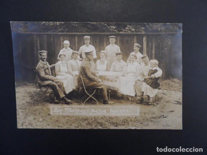 SOLDADOS IMPERIALES ALEMANES CONVALECIENTES EN HOSPITAL MOHREN EN GOTHA. II REICH. 30.9.1916 (Militar - Fotografía Militar - I Guerra Mundial)