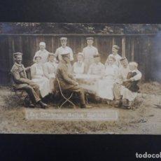 Militaria: SOLDADOS IMPERIALES ALEMANES CONVALECIENTES EN HOSPITAL MOHREN EN GOTHA. II REICH. 30.9.1916. Lote 219683620