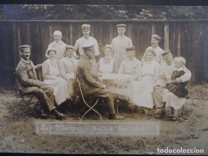 Militaria: SOLDADOS IMPERIALES ALEMANES CONVALECIENTES EN HOSPITAL MOHREN EN GOTHA. II REICH. 30.9.1916 - Foto 2 - 219683620