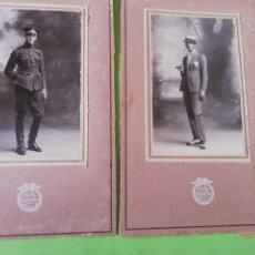 Militaria: 2 FOTOGRAFÍA MILITAR ESTUDIO MELILLA. Lote 219983645