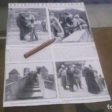 Militaria: RECORTE AÑO 1909 - TARIFA(CÁDIZ)S.M. EL REY ALFONSO XII EN TARIFA . ATRAS ACTRIZ ROSARIO GUERRERO. Lote 220184353