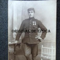 Militaria: (JX-201036)FOTOGRAFIA DE SOLDADO DE INFANTERÍA REG.Nº 42,MEDALLAS CAMPAÑA DE ÁFRICA,REUS. Lote 220305700