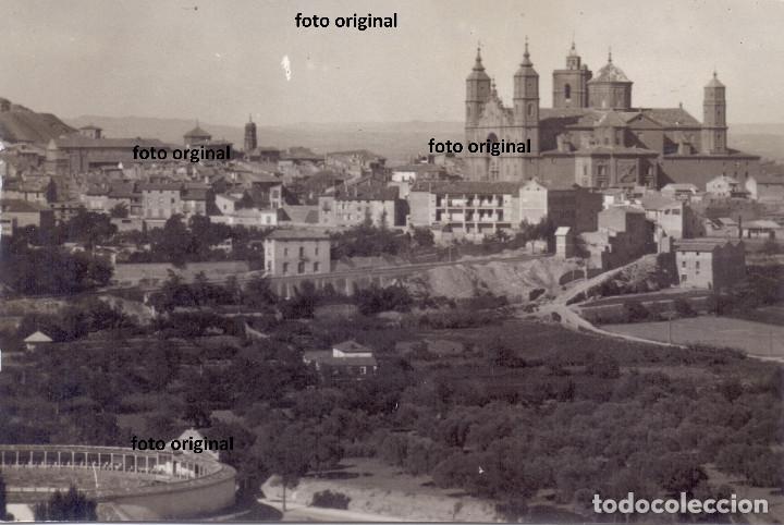 VISTAS ALCAÑIZ (TERUEL) 1938 CTV ITALIANO GUERRA CIVIL FRENTE ARAGON (Militar - Fotografía Militar - Guerra Civil Española)