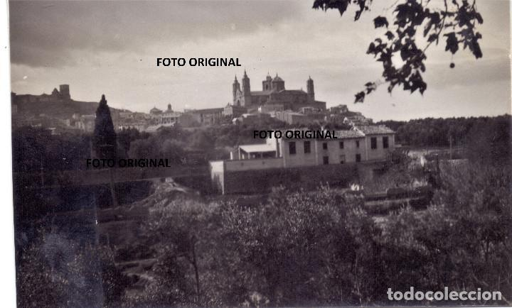 MAGNIFICA VISTA ALCAÑIZ (TERUEL) CTV ITALIANOS PLENA GUERRA CIVIL MARZO 1938 (Militar - Fotografía Militar - Guerra Civil Española)