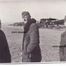 Militaria: PILOTOS ALEMANES LEGION CONDOR AERODROMO POR IDENTIFICAR GUERRA CIVIL. Lote 221085157