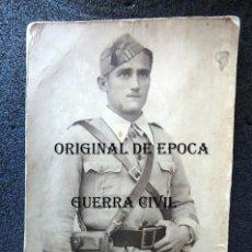 Militaria: (JX-201070)FOTOGRAFIA DE SARGENTO,GUERRA CIVIL,PISTOLERA CRUZADA,REALIZADA EN F.DE LAS HERAS,JACA.. Lote 221244220