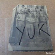 Militaria: GRUPO DE SOLDADOS EN VALDEPEÑAS ( CIUDAD REAL ) EL 26 DE JULIO DE 1937 - GUERRA CIVIL. Lote 221376493