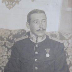 Militaria: FOTOGRAFÍA CAPITÁN ESTADO MAYOR DEL EJÉRCITO ESPAÑOL. JOSÉ MARIA BAIGORRI Y AGUADO. Lote 221471426
