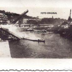 Militaria: ZONA PORTUARIA BILBAO TRAS LOS DESTROZOS GUERRA CIVIL FRENTE NORTE 1937. Lote 221527410