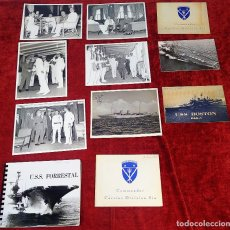 Militaria: LOTE DE FOTOGRAFÍAS VINCULADAS AL BUQUE SARATOGA, EN SU VISITA A BARCELONA. ESPAÑA. 1962-1966. Lote 221677858