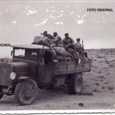 Militaria: SOLDADOS REGULARES DIRIGIENDOSE AL COMBATE ZONA CENTRO GUERRA CIVIL. Lote 221743340