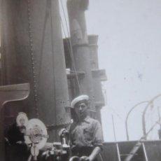 Militaria: FOTOGRAFÍA MARINEROS GUARDACOSTAS ARCILA. ARMADA 1938. Lote 221892118