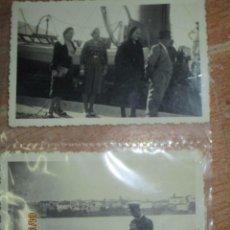 Militaria: LOTE 2 FOTOS DE MARINA DE CEUTA BARCO DE GUERRA DESEMBARCO DE MANDOS CIRCA POST GUERRA CIVIL. Lote 222445406