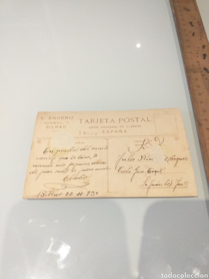 Militaria: Tarjeta postal año 1930 - V. ENDERIZ BILBAO - MILITAR SOLDADO - CORREOS ESCRITA POR DETRAS - Foto 2 - 222629042