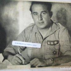 Militaria: FOTO LAMINA DEDICADA POR CORONEL FRANQUISTA' GARCIA ESCAMEZ ' EN LAS PALMAS 1941, FOTO JALON +. Lote 222692687