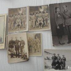 Militaria: ANTIGUO CONJUNTO 7 FOTOGRAFIAS. ZARAGOZA GUERRA CIVIL 1937.. Lote 222925406