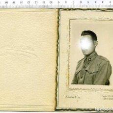 Militaria: FOTOGRAIA DE ESTUDIO MILITAR SOLDADO DE INFANTERIA. ESTUDIO ARTE CARTAGENA. Lote 222940375
