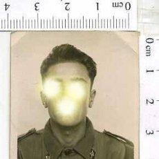 Militaria: MILITAR FOTOGRAFÍA FOTOMATON SOLDADO INFANTERIA APUNTADOR ANTIAEREO. Lote 222940822