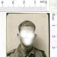 Militaria: MILITAR FOTOGRAFÍA FOTOMATON SOLDADO INFANTERIA APUNTADOR ANTIAEREO. Lote 222941056