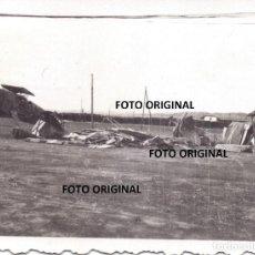 Militaria: VISTAS AERODROMO CAUDE TERUEL LEGION CONDOR FRENTE ARAGON BATALLA EBRO GUERRA CIVIL. Lote 223427760