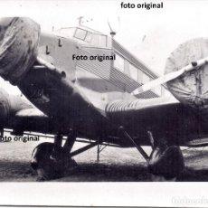 Militaria: JUNKERS 52 AERODROMO SANJURJO TRANSPORTE TROPAS LEGION CONDOR FRENTE NORTE GUERRA CIVIL. Lote 223428101
