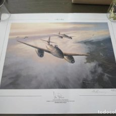 Militaria: LAMINA ME 262 DE ADOLF GALLAND AUTOGRAFIADA. Lote 223646413