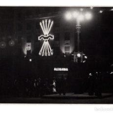 Militaria: MADRID.- YUGO Y FLECHAS DE NEÓN . FOTO PANIAGUA. 11X15.. Lote 223904391