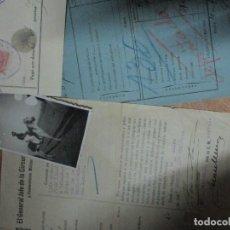 Militaria: DIVISION MARROQUI MELILLA FOTO Y SALVOCONDUCTO CORONEL TROPA REGULARES EN PENINSULA GUERRA CIVIL1937. Lote 137263390