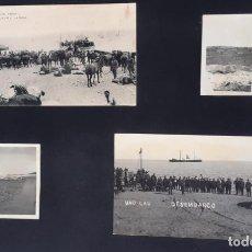 Militaria: LOTE 63 FOTOS Y POSTALES, GUERRA DE MARRUECOS DESEMBARCO UAD LAU AÑOS 1923 Y 1924.. Lote 224174955