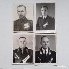 Militaria: FOTOGRAFÍAS : LOTE DE 4 FOTOS DE MILITARES SOVIÉTICOS CONDECORADOS. ENVÍO GRATUITO CERTIFICADO.. Lote 224751935