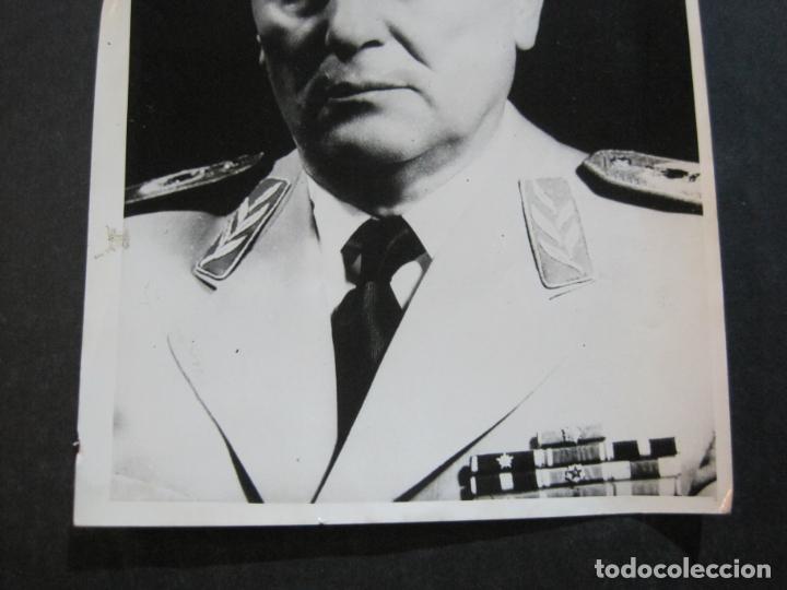 Militaria: JOSIP BROZ TITO-MARISCAL DE YUGOSLAVIA-FOTOGRAFIA ANTIGUA-VER FOTOS-(K-1065) - Foto 3 - 225196576