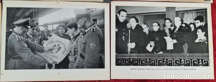 Militaria: 23 FOTOGRAFIAS DE LA II GUERRA MUNDIAL. DIVISION AZUL. ALEMANIA. AÑOS 40. - Foto 3 - 226417232
