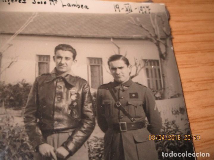 AVIACION JOSE MARIA LAMBEA PILOTO CONDECORADO EN PLENA GUERRA CIVIL FRENTE ARAGON XII 1937 LEGION (Militar - Fotografía Militar - Guerra Civil Española)