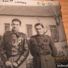 Militaria: AVIACION JOSE MARIA LAMBEA PILOTO CONDECORADO EN PLENA GUERRA CIVIL FRENTE ARAGON XII 1937 LEGION. Lote 172983628