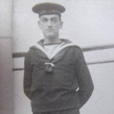 Militaria: FOTOGRAFÍA MARINERO ARMADA ESPAÑOLA. CIM CARTAGENA 1948. Lote 229119020