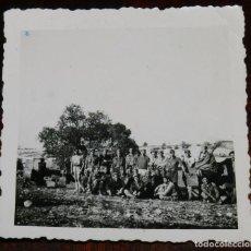 Militaria: FOTOGRAFIA FRENTE DEL EBRO, SECTOR FLIX, 2ª SECCION DEL BATALLON DE MONTAÑA 105/11, NOVIEMBRE DE 193. Lote 229316416