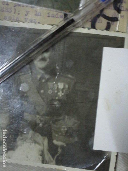 BURGOS ORDEN TENIENTE GENERAL MEDALLA SUFRIMIENTO HERIDO VALA FRENTE DE ARAGON 1937 GUERRA CIVIL (Militar - Fotografía Militar - Guerra Civil Española)