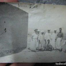 Militaria: REGULARES OFICIALES COMBATIENTES DE GUERRA CIVIL RECIEN LLEGADOS A BASE FUERTE DE TILIUIN 1939. Lote 229579545