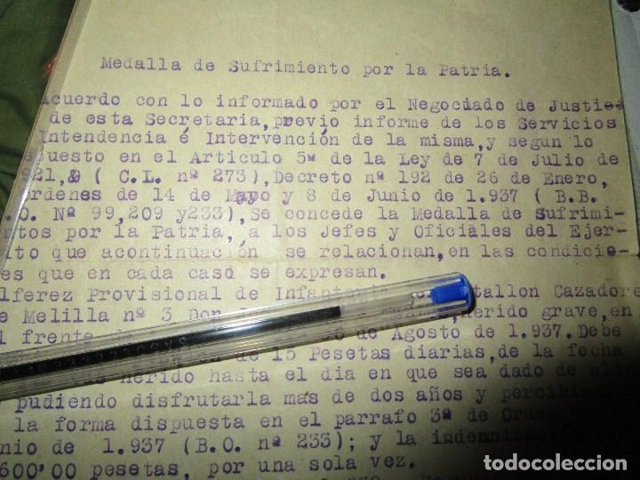 Militaria: burgos ORDEN TENIENTE GENERAL MEDALLA SUFRIMIENTO HERIDO vala FRENTE de ARAGON 1937 GUERRA CIVIL - Foto 9 - 138742774