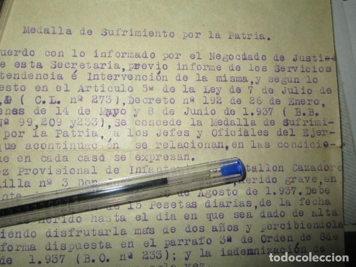 Militaria: burgos ORDEN TENIENTE GENERAL MEDALLA SUFRIMIENTO HERIDO vala FRENTE de ARAGON 1937 GUERRA CIVIL - Foto 10 - 138742774